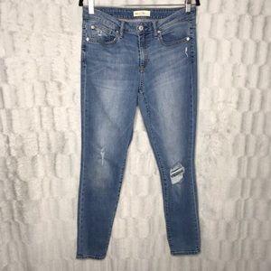 GAP Curvy True Skinny Jeans High Rise Distressed